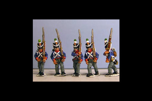 Orange Nassau Marching (16 figures, 8 fusiliers, 4 elites including sergent & 4 command)