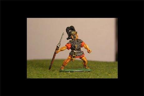 Legionaries Throwing Pilum, Coolus helmet, plume