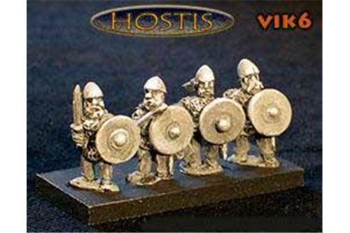 Viking Huscarls shield and sword (8 figures per pack)