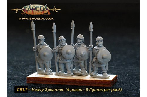 Frankish heavy Spearmen  (8 foot Figures)