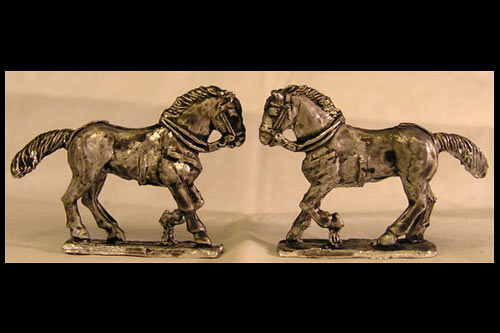 Cantering Horse Tail Flowing