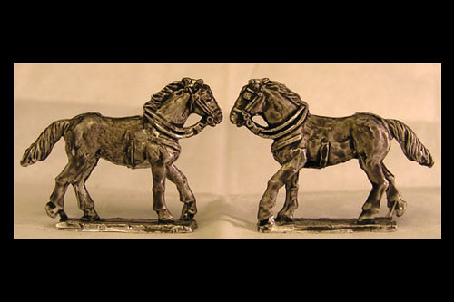 Cantering horse Tail Down Left Leg Forward