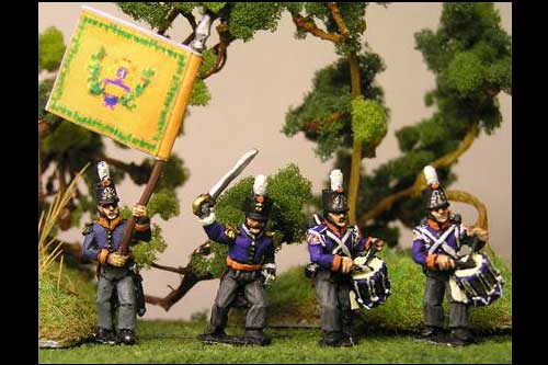 Netherlands Militia Command Marching/Advancing
