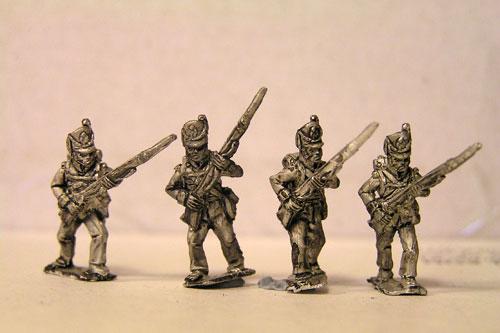 Peninsular British / KGL Line Infantry Advancing Belgic Shako 12 figs (1813-15)