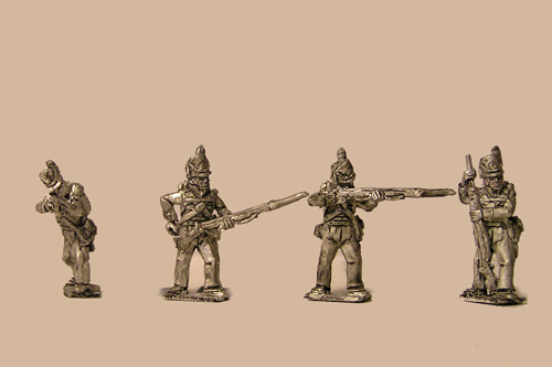 British / KGL Line Infantry Firing/Skirmish Belgic Shako12 figs
