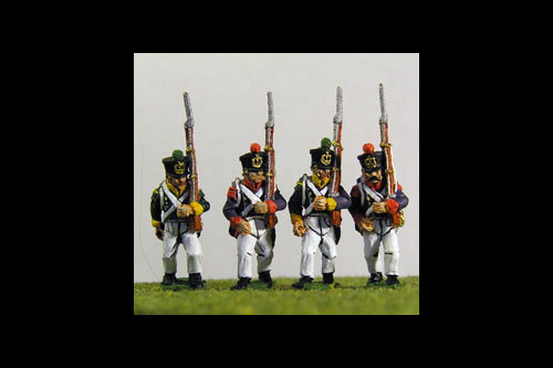 Young Guard Tirailleurs/ Voltiguers 1813-1815 March Attack Campaign Dress 12 figs