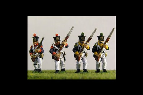 Young Guard Tirailleurs/ Voltiguers 1813-1815 Advancing Campaign Dress 12 figs