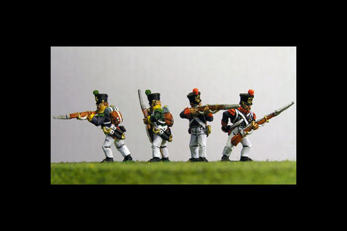 Young Guard Tirailleurs/ Voltiguers 1813-1815 Firing Line/Skirmish Campaign Dress 12 figs