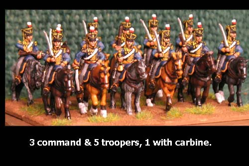 British / KGL Light Dragoons at Rest x 8 with Command