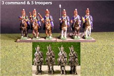 British / KGL Hussars at Rest x 8 with Command