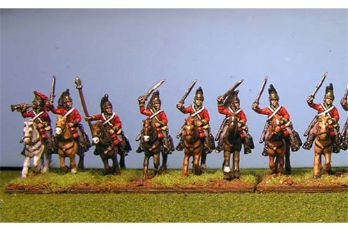 British Heavy Dragoons Charging x 8 with Command