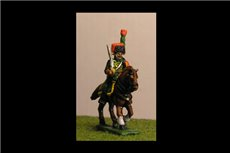Chasseurs a Cheval de la Guard At Rest Full Dress with Command 8 figs