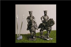 Imperial Guard Polish & Dutch Lancers Charging in covered Czapka x 8 figs