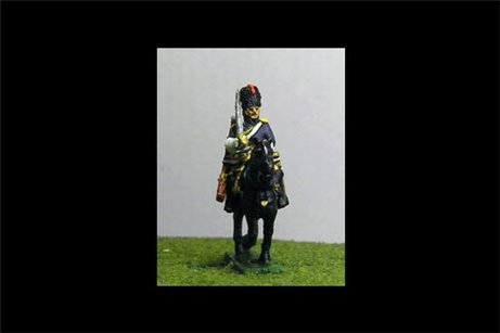 Grenadiers a Cheval At Rest with Command 8 figs