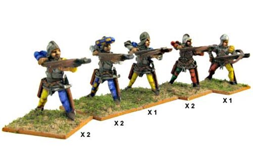 Italian Crossbowmen (Assorted)including one officer.