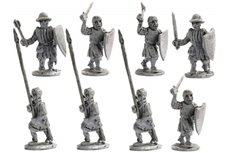 Infantrymen attacking with short weapons (Swords, clubs, axes)