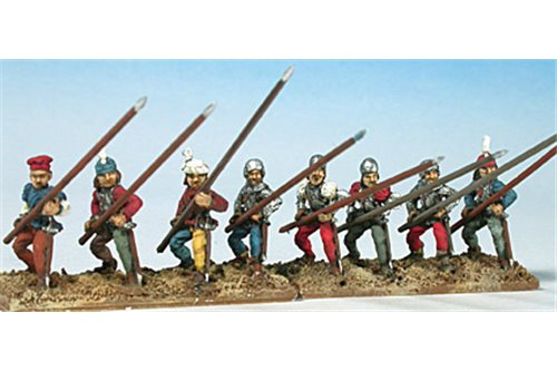 Swiss pikmen of first rank (assorted, 6 different positions)
