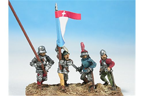 Swiss command group (4 miniatures)