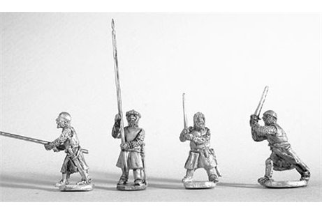 Dismounted knights fighting (8 miniatures in 4 different positions)