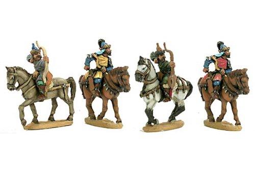 Hungarian archers with walking horses.(4 men + horses per pack)