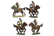 Hungarian archers with galloping horses (4 men + horses per pack)