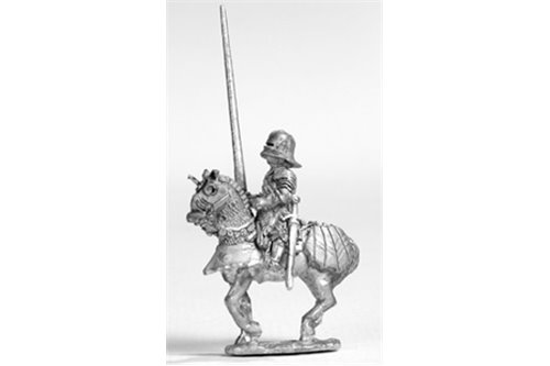 Knights with Maximilian stile armour and sallet, walking (4 miniatures).