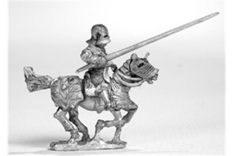 Knights with Maximilian stile armour and sallet, galloping (4 miniatures)