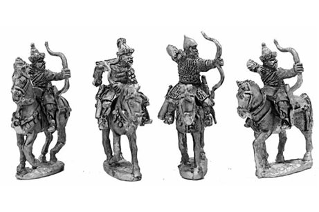 Russian archers and Mongol allies - three variants.
