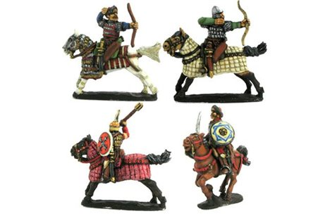 Heavy Cavalry, Ghulam or Mamelukes, galloping horses (4 variants)