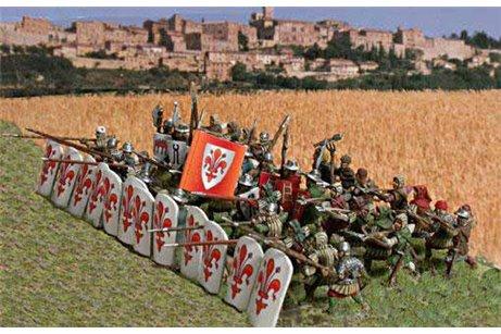 Italian Commune wars 1200 ヨ 1320 (14 Knights, 58 infantrymen 1 Carroccio)
