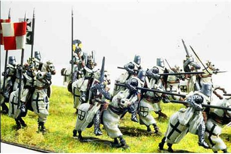 Teutonic Order 1201 ヨ 1522 ( 19 Knights, 18 foot miniatures)