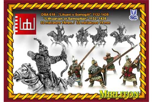 Lituanian o Samogitian 1132 to 1435 ( 20 cavalrymen, 10 foot. 4 flags)