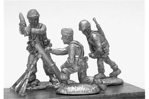 Parachutists of Folgore with field mortar mod. 81