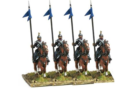 Dragoons in campaign dress, walking