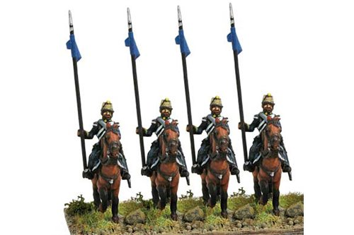 Lancers in campaign dress, walking