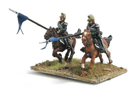 Lancers in campaign dress, charging (2 positions)