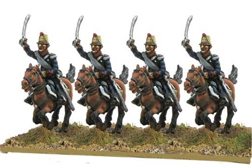 Chevauxlegers in campaign dress, charging