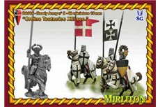 Teutonic Order Army.  38 Cavalry, 28 Infantry, 4 flags.