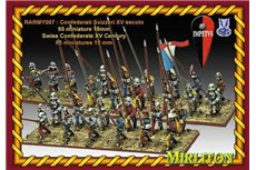 Swiss Confederates XV Century (87 Foot, 8 Cavalrymen, one bombard, 4flags)