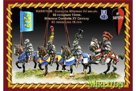 Milanese Condotta XV Century (63 miniatures one bombard and 4 flags)