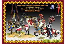 Florentine Condotta 1440 - 1490 (63 miniatures one bombard and 4 flags)