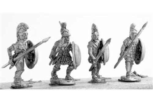 Hoplites armed in the Greek fashion, class I, attacking (4 variants)