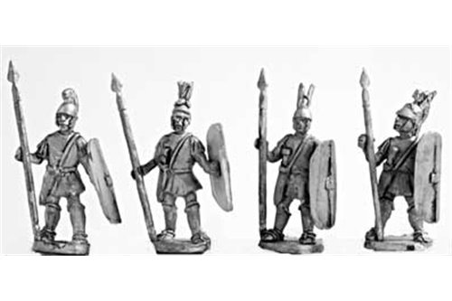 Medium spearmen (class II), armed in italian fashion, standing (4 variants)