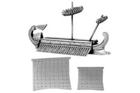 Roman Trireme (includes furled & set main and fore sails)