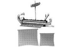 Roman Quinquereme with Corvus  (includes furled & set main and fore sails)