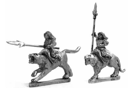 Amazons Cat Riders with spear