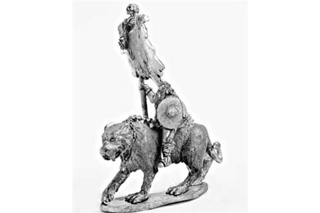 Barbarian Standard Bearer on Tiger