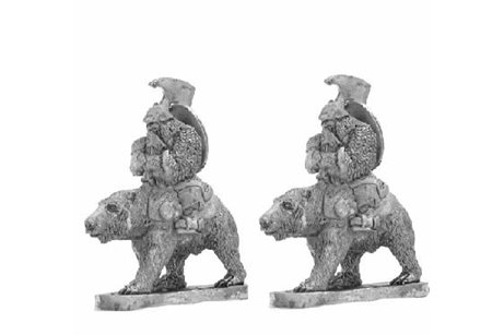 Dwarves with axe on bears