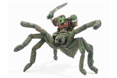 Goblin with Sword on Giant Spider