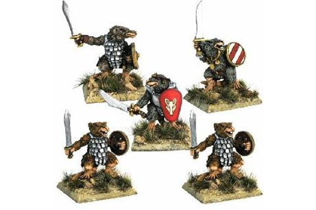 Ratscum with sword and shield